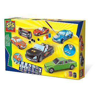 SES Creative Cars Casting & Painting Kit Unisex Multi-color (1401)