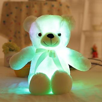 Big Colorful Glowing Teddy Bear Luminous Plush Toys - Light Up Led Teddy Bear