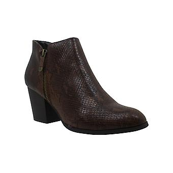 Style & Co. Kvinnor's skor Masrinaa läder Mandel Toe Ankel Mode Boots