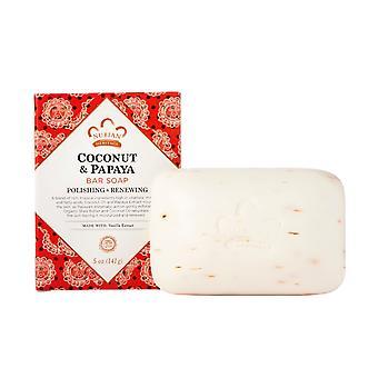 Nubian Heritage Bar Soap, Coconut and Papaya 5 OZ