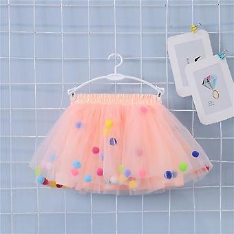 Colorful Skirt Pom Princess, Mini Dress For Kid Clothes Set-1