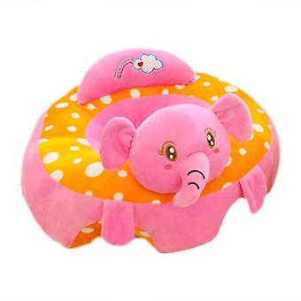 Baby Cartoon Animal Support Seat, Plush Cushion, Stuffed Play Toy