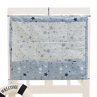 Bed Hanging Storage Bag, Baby Cot, Cotton Crib Organizer