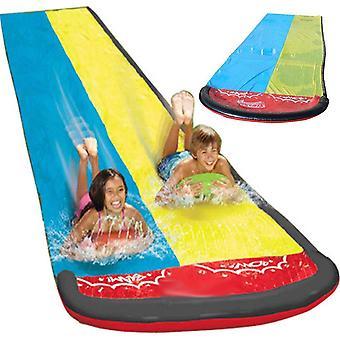 Summer Water Slide Racer Pool Kids, Outdoor Park Splash-slide Wave Rider (as