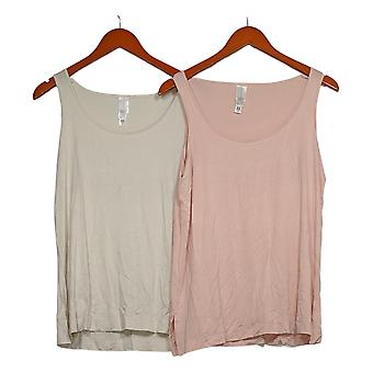 WynneLayers  Women's Top 2-Pack Stretch Layering Tanks Pink 517-748