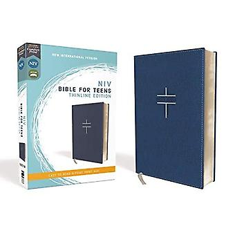 NIV, Bible for Teens, Thinline Edition, Leathersoft, Blue, Red Letter Edition, Comfort Print