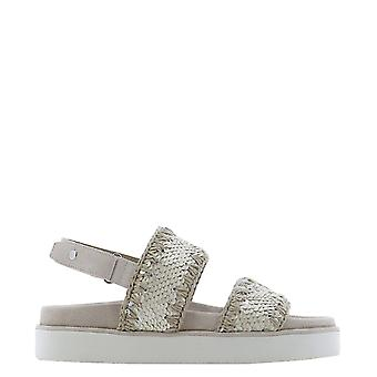 Mou Musw251002gseqch Women's Grey Leather Sandals