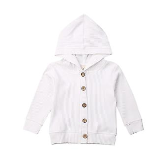 Spring Autumn Clothing Infant Baby Long Sleeve Knitted Jacket Outwear Solid