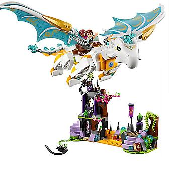 Elves Long After The Rescue Action Dragon, Building Block Bricks Toy