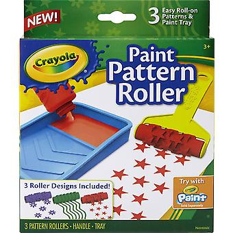 Crayola 05-1060 kids roller with 3 designs, paint supplies, gift accessories, assorted