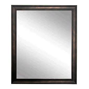 Clouded Bronze Framed Vanity Wall Mirror 25''X 30''