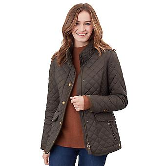 Joules Womens Newdale Collared Casaco Casual Acolchoado