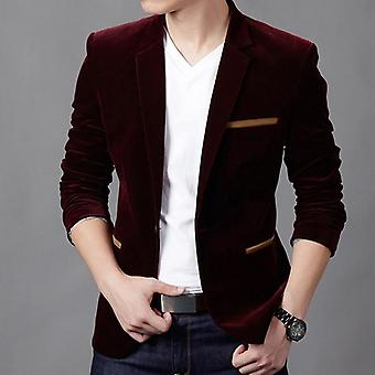 Men Blazer, Fashion Cotton Suit Blazer, Slim Fit Masculine, Casual Solid Jacket