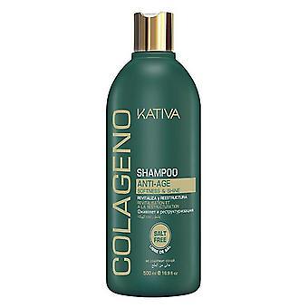 Fuktgivande schampo Colágeno Kativa (500 ml) (500 ml)