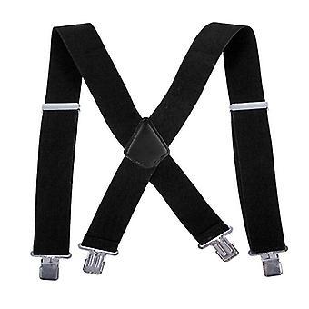 Adjustable Elasticated Adult Suspender Straps Y Shape Clip-on Men's Clip