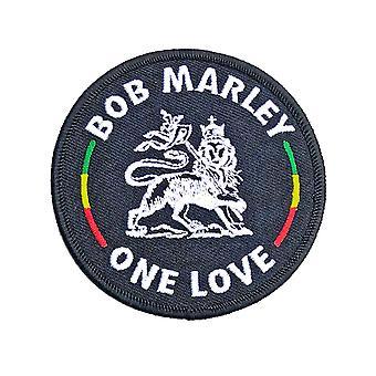 Bob Marley Patch Lion uusi virallinen musta