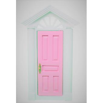 Dolls House Pink Charleston Front Door With Fancy Fanlight 1:12