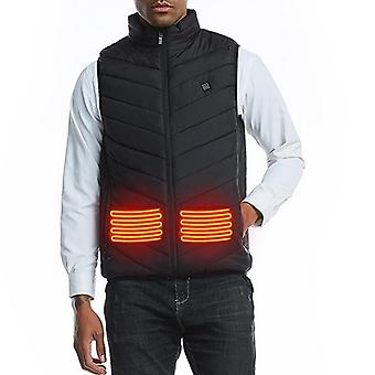 Men Autumn Winter Smart Heating Cotton Vest, Usb Infrared, Outdoor Flexible