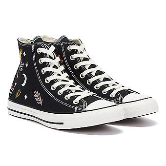 Converse All Star It's Ok To Wander Hi Womens Black / White Trainers