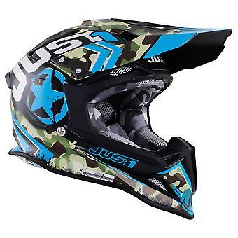 Just 1 J12 Carbon MX Helmet Kombat Blue