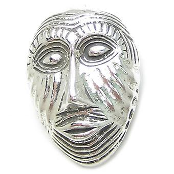 Afrikansk maske Sterling Sølv Vedhæng 0,925 X 1 Krigsmasker Vedhæng