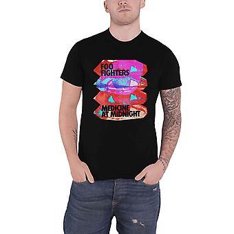 Foo Fighters T Shirt Medicine At Midnight Band Logo new Official Mens Black