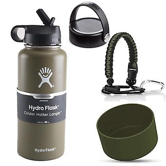 Hydro Water Bottle Flask, Vacuum Insulated, Wide Mouth, Stainless Steel With