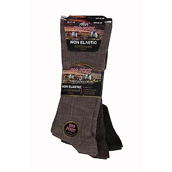 Big Foot Wool Blend 3 Pack Non Elastic Socks