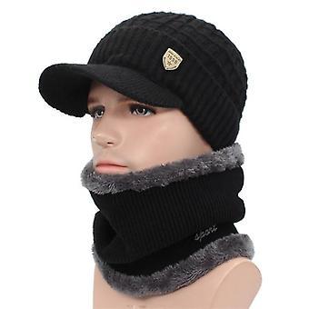 Winter Skullies Beanies Hats/women Wool Scarf Caps