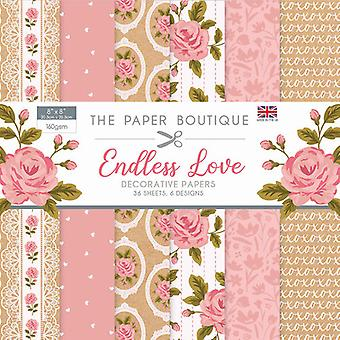 The Paper Boutique - Endless Love Collection - 8x8 Paper Pad