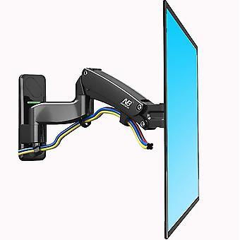 F450 Full Motion Monitor Seinäkiinnike Tv-kiinnike jalusta säädettävällä kaasulla