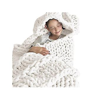 Super soft and fluffy blanket, thick thread knitted thick sofa bed cover blanket, bedspread