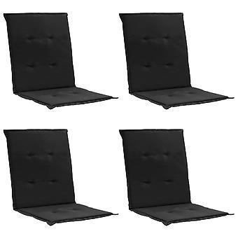 vidaXL garden chair edition 4 pezzi. nero 100 x 50 x 3 cm