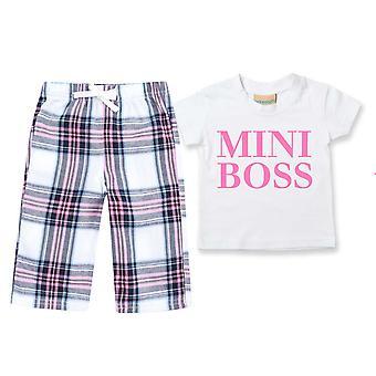 Mini Boss Tartan Hose Pyjamas