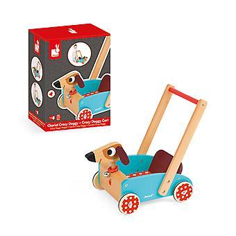 Janod Crazy Cart Doggy Push Toy