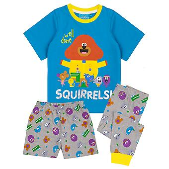 Cbeebies Hey Duggee Pyjamas For Boys | Blue Grey Characters PJs With Long Or Short Bottoms | Childrens T-Shirt & Trousers Merchandise