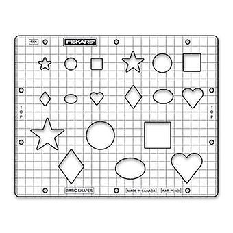 Fiskars Basic Shapes Embossing Stencil Set
