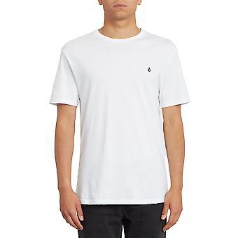 Volcom Hombres's Camiseta de algodón orgánico ~ Stone Blanks blanco