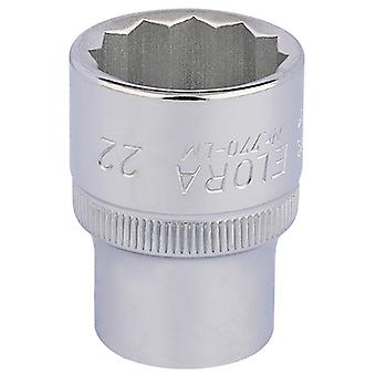 Draper 24674 22mm 1/2 Square Drive Elora Bi-kuusikulmio Socket