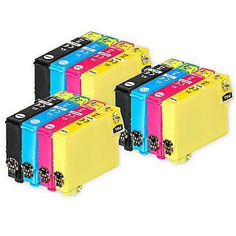 3 Sæt med 4 blækpatroner til udskiftning af Epson 502XL-kompatibel/ikke-OEM fra Go-blæk (12 trykfarver)