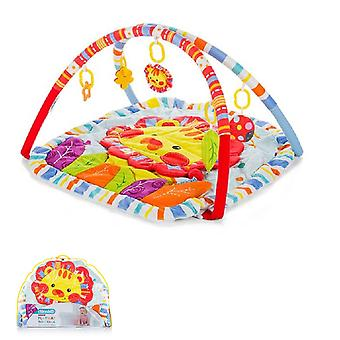 Chipolino Play Bow Baby Lion Square Play Blanket com brinquedo removível