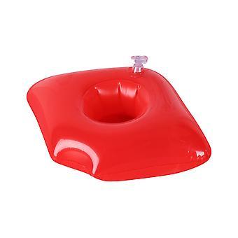 Röd läpp uppblåsbar dryckeshållare, dryck flyter uppblåsbara mugghållare för poolparty