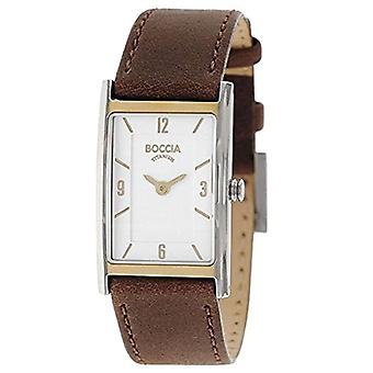 Boccia Analogueico Quartz Watch Woman with Leather Strap 3212-06