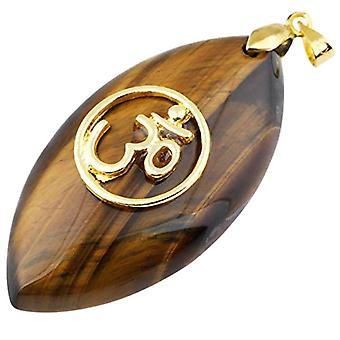 KYEYGWO - Collar de mujer con colgante en forma de amuleto en piedra natural brillante y aleación, Color: Tigerauge Stein (Chakra Oval Ref. 0715444084836
