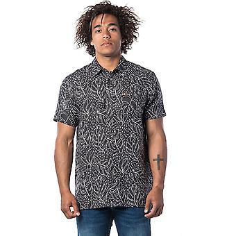 Rip Curl Swc Motiv Linne Kortärmad skjorta i svart