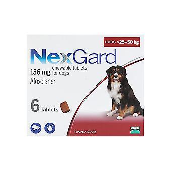 犬のためのネスガルド 25-50 kg (60-121 ポンド) 6 チュアブル