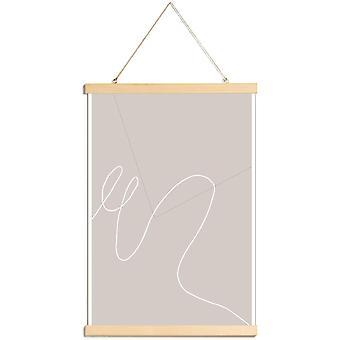 JUNIQE Print - MA - Abstrakt och geometrisk affisch i grått & vitt