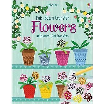 Flowers Rubdown Transfer Books