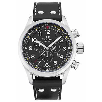TW Steel Swiss Volante Black Leather Strap SVS202 Watch