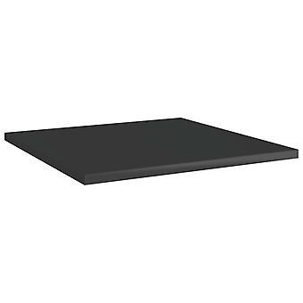 vidaXL Estanterías 8 Pcs. Negro de Alto Brillo 40x40x1,5 cm